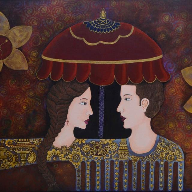 Sabita Dangol Visual artist from Nepal Creative Painting